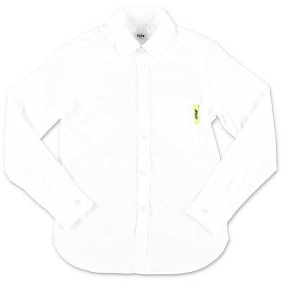 MSGM white cotton poplin shirt