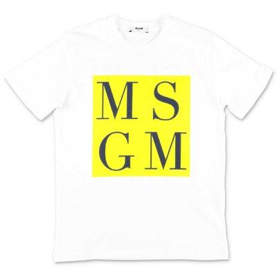 MSGM t-shirt bianca in jersey di cotone