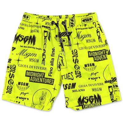 MSGM costume da mare giallo in nylon