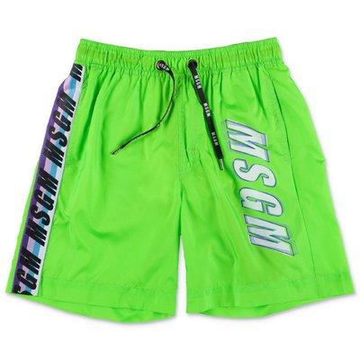 MSGM green nylon swimsuit