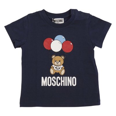 Navy blue Teddy Bear cotton jersey t-shirt