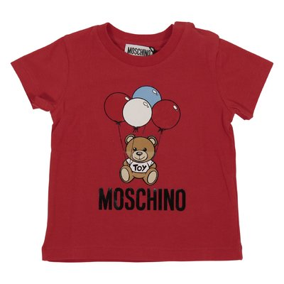 Red Teddy Bear cotton jersey t-shirt