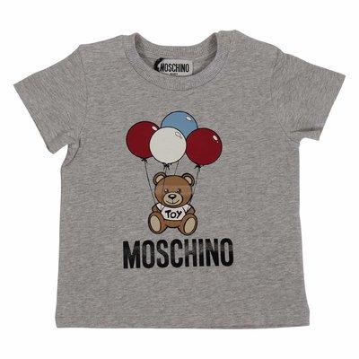 T-shirt grigio melange Teddy Bear in jersey di cotone