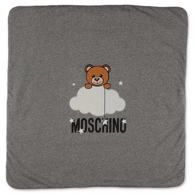 Moschino coperta grigia