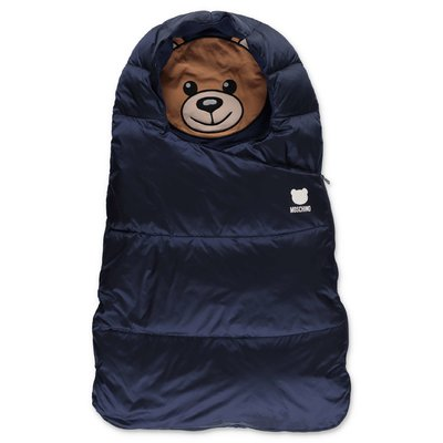 Moschino navy blue padded nylon sleeping bag