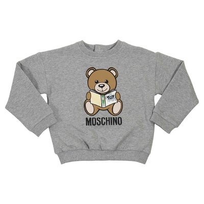 Teddy Bear melange grey cotton sweatshirt