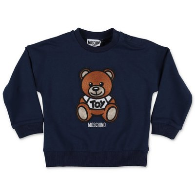 MOSCHINO Teddy Bear navy blue cotton sweatshirt