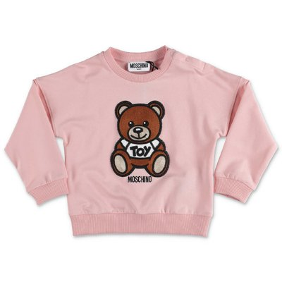 MOSCHINO felpa rosa Teddy Bear in cotone