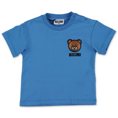 MOSCHINO Teddy Bear blue cotton jersey t-shirt