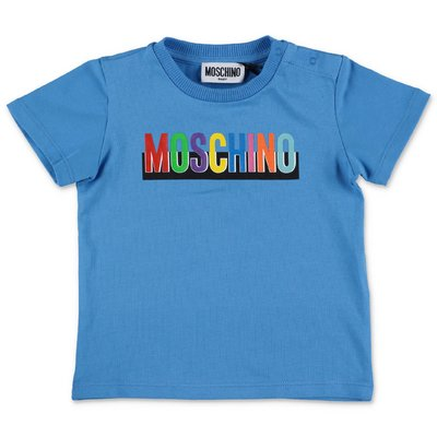 MOSCHINO blue cotton jersey t-shirt