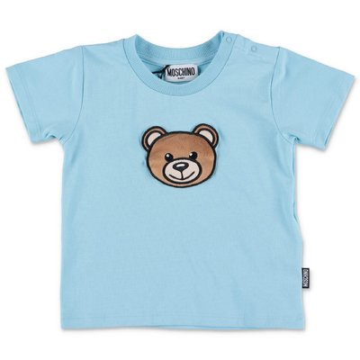 MOSCHINO Teddy Bear sky blue cotton jersey t-shirt