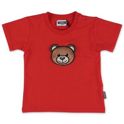 MOSCHINO Teddy Bear red cotton jersey t-shirt