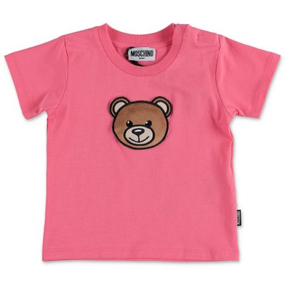 MOSCHINO Teddy Bear pink cotton jersey t-shirt