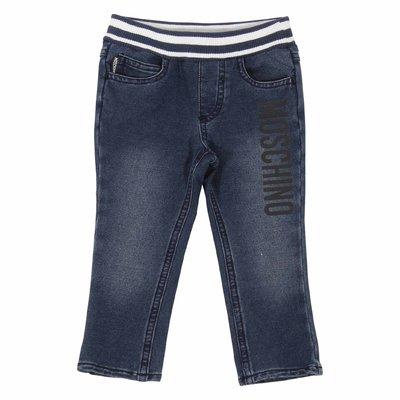 Jeans denim elasticizzati con logo