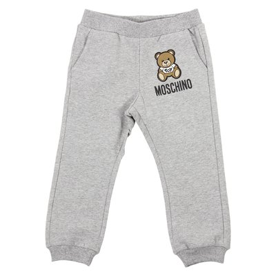 Melange grey Teddy Bear logo detail sweatpants