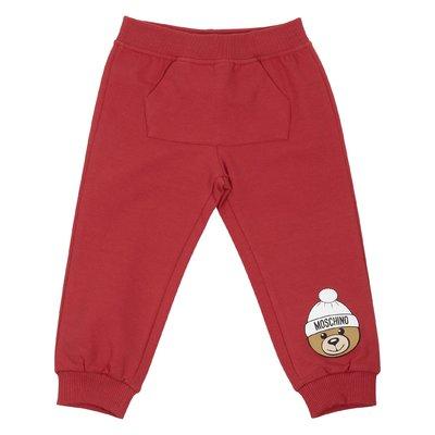 Pantaloni rossi in cotone con dettaglio logo