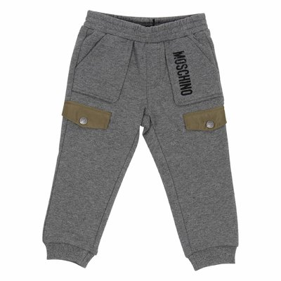 Grey logo detail sweatpants