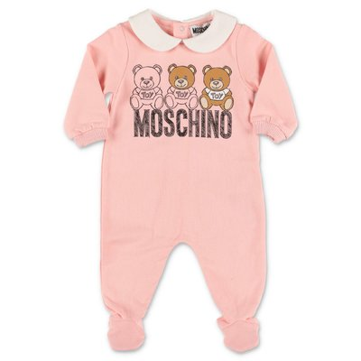 Moschino  pink cotton sweatshirt romper