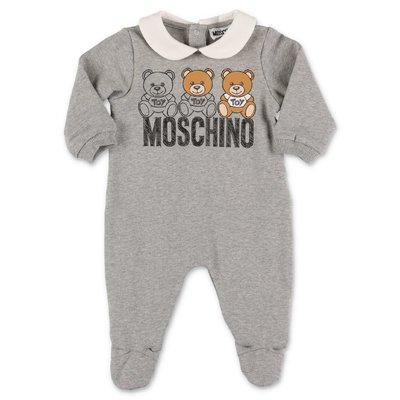 Moschino melange grey cotton sweatshirt romper