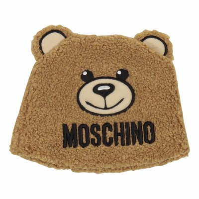 Teddy Bear brown faux shearling bear shaped hat