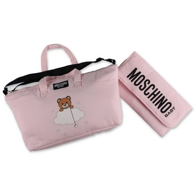 Moschino pink cotton changing bag