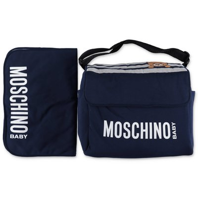 MOSCHINO navy blue cotton changing bag