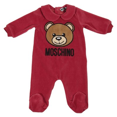 Teddy Bear red chenille romper