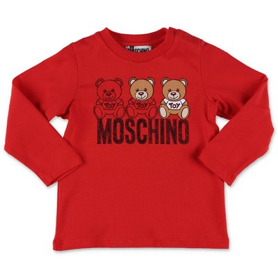 Moschino red cotton jersey t-shirt
