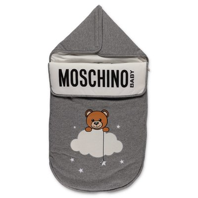 Moschino grey cotton sleeping bag