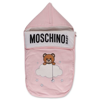 Moschino pink cotton sleeping bag