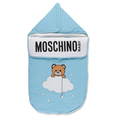 Moschino sky blue cotton sleeping bag