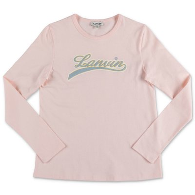 Lanvin pink logo detail cotton jersey t-shirt