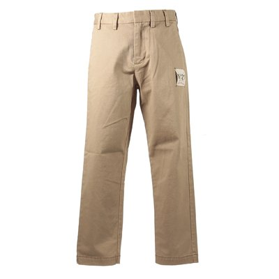 Khaki green cotton gabardine pants