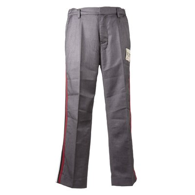 Grey viscose blend pants
