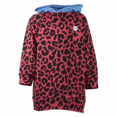 Leopard print cotton oversize sweatshirt hoodie