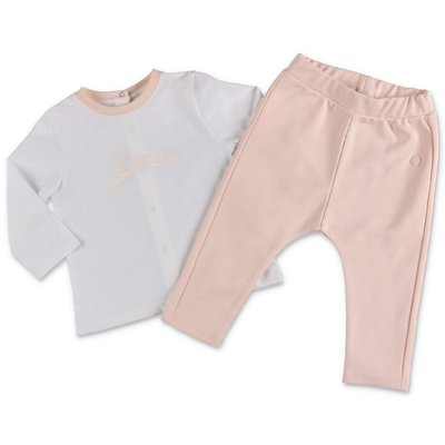 Lanvin white cotton jersey t-shirt & pink pants set
