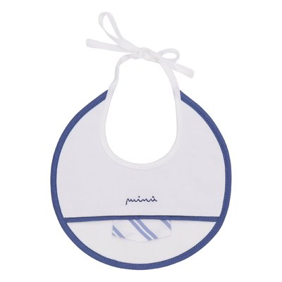 White cotton jersey bib