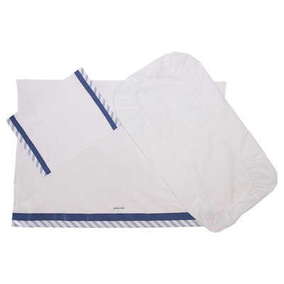 White cotton two piece sheet set with pillowcase