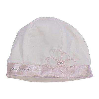 White formal cotton jersey hat