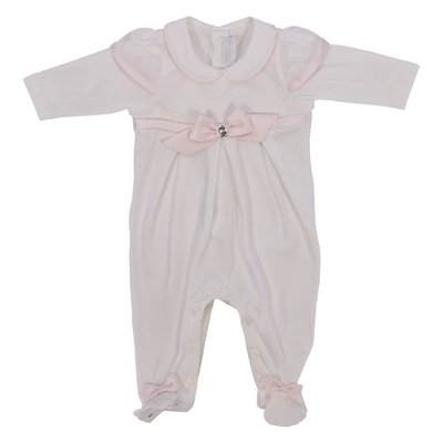 MODì white cotton jersey romper