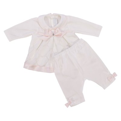 Modì white cotton jersey set