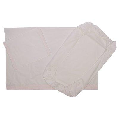 Set due lenzuola con federa in colore bianco in cotone