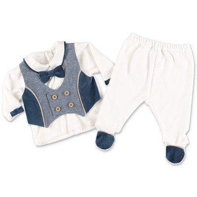 Modì white cotton chenille two piece effect set