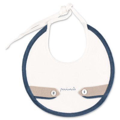 Modì white cotton chenille bib