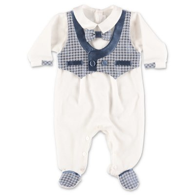 Modì white cotton chenille two piece effect romper