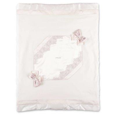 Modì white cotton chenille removable blanket