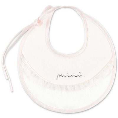 Modì white cotton chenille satin bib