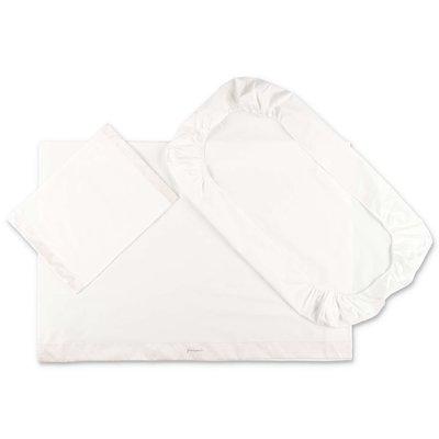 Modì white cotton two piece sheet set with pillowcase