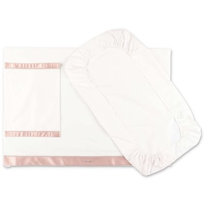 Modì white cotton two piece sheet set with pillowcase