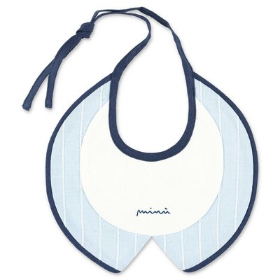 Modì light blue cotton bib